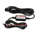 12~24V to 5V Voltage Step Down Power Converter Cable for Car DVR Camcorder - Black + White