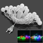 4m 3W 280lm 20-LED RGB Light Ball Toy String (EU Plug / AC 220V)