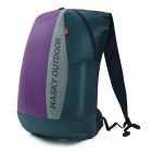Hasky CY-2492 Outdoor Ultra-Light Folding Nylon Shoulders Bag Backpack - Navy Blue + Purple