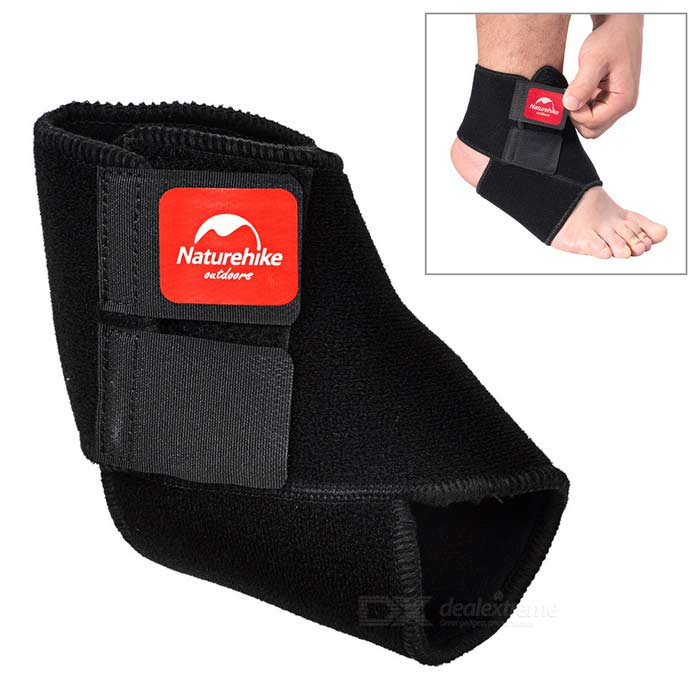 NatureHike Protective Adjustable Ankle Band - Black + Red