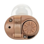 In-Ear Hidden Sound Enhancement Amplifier Hearing Aid - Light Brown