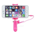Mini Wired Selfie Monopod for Cellphone / Camera - Deep Pink