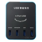4-Port USB Smart Fast Charger w/ US / EU Plug