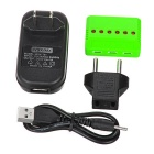 X6A-A 1-to-6 Charger + TOL Converter + Plug + Data Cable Set - Green