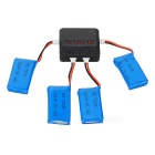 X4A-A02 4-380mAh Batteries / 1-to-4 Charger / TOL Converter / Data Cable Set - Black + Red