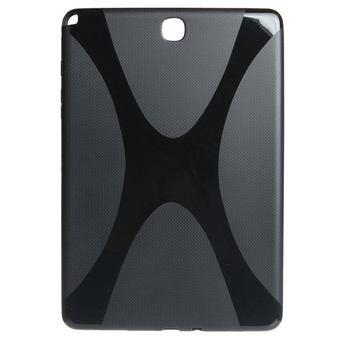"""X"" Pattern Non-Slip TPU Case for Samsung Galaxy Tab A 9.7 - Black"