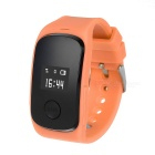 "0.66"" OLED GPS+LBS Dual Positioning Tracking Smart Watch w/ SOS / SIM / GSM for Kids - Orange"