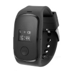 "0.66"" OLED GPS+LBS Dual Positioning Tracking Smart Watch w/ SOS / SIM / GSM for Kids - Black"