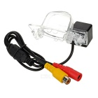 Wired CCD 4-LED Car Reversing Rearview Camera for Honda Jade - Black