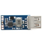 Mini DC 7.5~28V to USB Socket DC 5V Step-down Buck Converter Power Supply Module - Blue + Silver