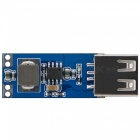 Mini DC 2.5~5.5V to USB Socket DC 5V Step-up Boost Converter Power Supply Module - Blue + Silver