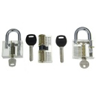 3-in-1 Transparent Praxis Locks Tools Set - Transparent + Silber