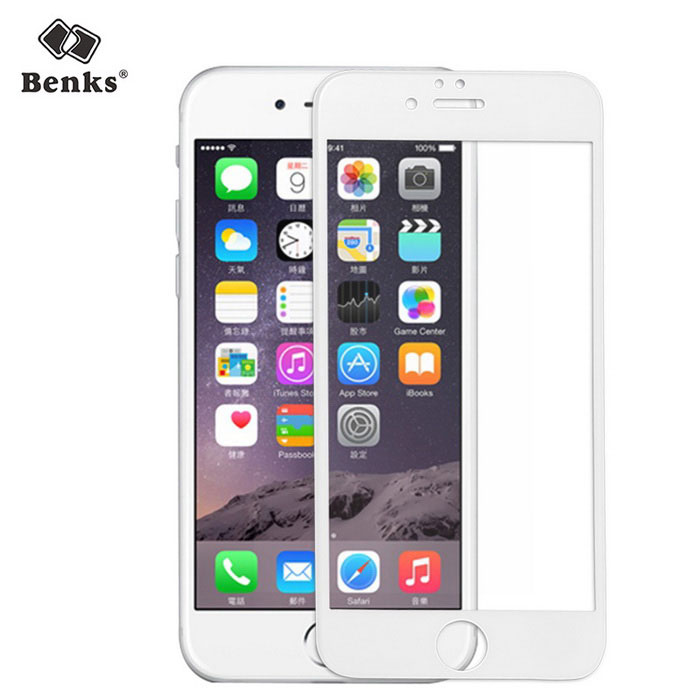 Benks Magic X PRO 3D Curved Tempered Glass Film for IPHONE 6 - White