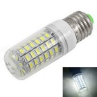 E27 12W LED Corn Bulb Lamp White Light 6500K 1800lm 69-SMD 5730 - White + Silver (AC 220~240V)