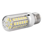 E27 luz branca fria do bulbo do milho de 11W LED 6500K 920lm 56-SMD 5730 (ac 220 ~ 240V)