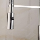Contemporary Chrome Finish Full Brass Kitchen Sink Faucet - Silver