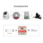 HOSAFE 1MD4 1.0MP 720P HD IP Camera ONVIF POE Kit - White (EU Plug)