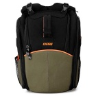 CADEN K5 Universal Nylon Camera Shoulders Bag Backpack - Black + Army Green
