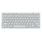 Bluetooth V3.0 78-Key Keyboard for Tablet PC / Cellphone - White + Silver