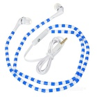 ColorfulBeadsPatternedIn-EarEarphonesw/3.5 mmJack-Blue+White