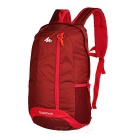 Decathlon Outdoor Sports / Travel Polyester Shoulders Bag Schoolbag Backpack - Deep Red (20L)