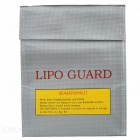 Small High Temperature Resistance Explosion-proof Bag for Model Airplane Battery - Silver + Yellow