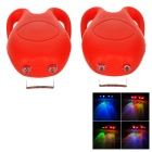 Tadpole Style 3-Mode Multi-color 2-LED Warning Bike Light - Red (2 x CR2302 / 2PCS)