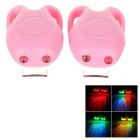 Tadpole Style 3-Mode Multi-color 2-LED Warning Bike Light - Pink (2 x CR2302 / 2PCS)