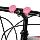 Tadpole estilo multicolor 2-LED luz de advertencia bici - rosa (2PCS)