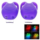 Tadpole Style 3-Mode Multi-color 2-LED Warning Bike Light - Purple (2 x CR2302 / 2PCS)
