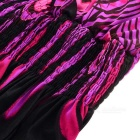 Summer Peacock Bohemia Deep V Neck Long Beach Dress - Black + Purple
