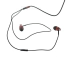 JBMMJ MJ-900 Wired 3.5mm Subwoofer Earphone Headphone - Coffee + Black