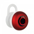 Mini Bluetooth V4.1 In-Ear Stereo Music Earphones w/ Microphone - Red + White