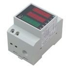 D52-2047 3P Guide Tracked Type Digital AC Voltage / Current / Power LED Display Multifunction Meter