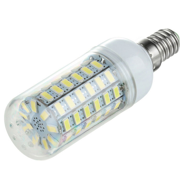 E14 6W LED Corn Lamp Cold White Light 750lm 69-SMD 5730 - White (110V)