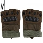Outdoor Sports Cycling Hunting Military Tactical Anti-Slip Half-Finger Gloves - Army Green (M/Pair)