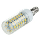 E14 6W LED Corn Lamp Warm White Light 750lm 3500K 69-SMD 5730 (AC 110V)