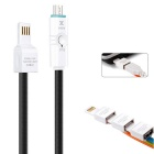 OTG Android System Charging and Data & Sync LED Indicate USB Mutil-function Cable - Black (100cm)