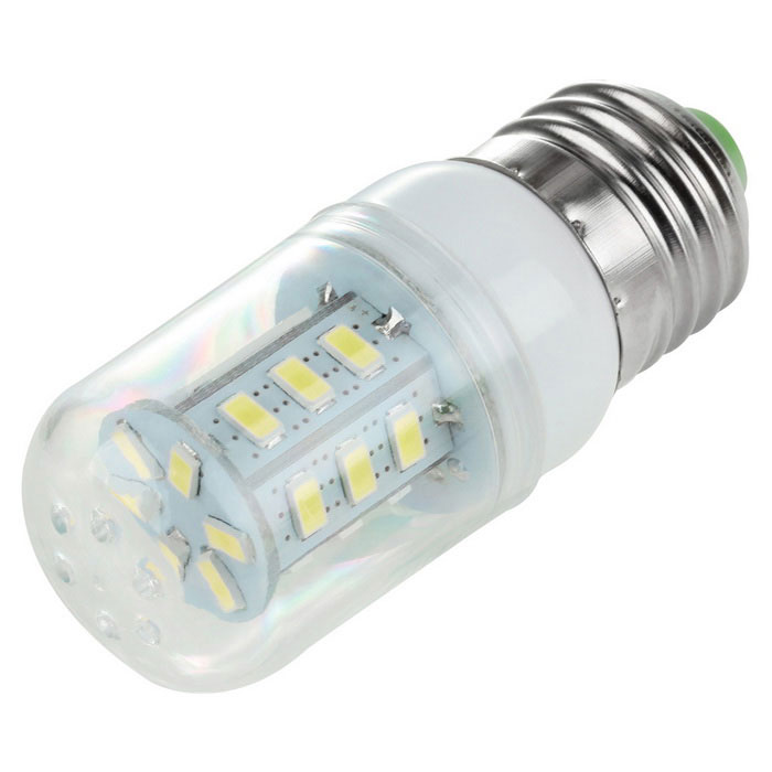 E27 2.5W 300lm 6000K 24-SMD LED White Light Corn Lamp Constant Current