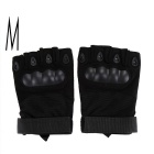 Outdoor Sport Military Tactical Slip-resistant Hunting Cycling Half Finger Gloves - Black (M)