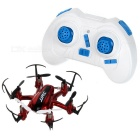 JJRC H20 Headless Mode One Key Return 2.4GHz 4-CH 6-Axis Gyro R/C Aircraft w/ Lamp - Red + Black