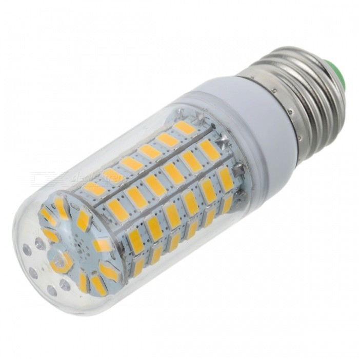 E27 7W 160lm Warm White Light 69-SMD 5730 LED Corn Bulb (AC 220~240V)E27<br>Form  ColorWhite + SilverColor BINWarm White (E27)MaterialPlastic + aluminumQuantity1 DX.PCM.Model.AttributeModel.UnitPower7WRated VoltageAC 220-240 DX.PCM.Model.AttributeModel.UnitConnector TypeE27Chip Type5730Emitter TypeOthers,5730 SMD LEDTotal Emitters69Theoretical Lumens200 DX.PCM.Model.AttributeModel.UnitActual Lumens100~160 DX.PCM.Model.AttributeModel.UnitColor Temperature3000KDimmableNoBeam Angle360 DX.PCM.Model.AttributeModel.UnitCertificationCEPacking List1 x Corn lamp<br>