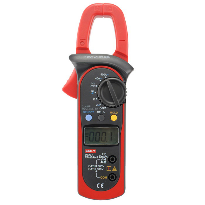 "UNI-T UT204 400~600A 1.57"" LCD Digital Clamp Meter (1*6F22)"