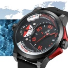Weide UV1501 menns 3ATM vanntett dual tidssone sports watch - hvit