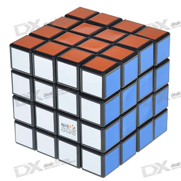 High Quality Speedy 4x4x4 Brain Teaser Rotating Magic Puzzle Cube with Display Base