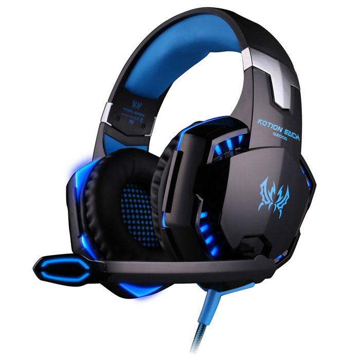 KOTION EACH G2000 Headband Game Headset Headphone - Blue + BlackHeadphones<br>Form  ColorBlue+BlackModelG2000Quantity1 DX.PCM.Model.AttributeModel.UnitShade Of ColorBlueHeadphone StyleHeadbandConnectionWired,3.5mm Wired,USB 2.0Cable Length2.2 DX.PCM.Model.AttributeModel.UnitMaterialPP + ABS + foamSensitivity114+/-32dBRemoteYesWith MicrophoneBuilt-inFrequency Response20Hz~20KHzImpedance32 DX.PCM.Model.AttributeModel.UnitChannels1.0Connector3.5mmLeft &amp; Right Calbes TypeEqual LengthVolume ControlSupportPacking List1 x KOTION EACH G2000 Headphone<br>