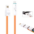 USB Charging & Data Sync Cable w/ LED Indicator & OTG Function for Android Phones - Orange (100cm)