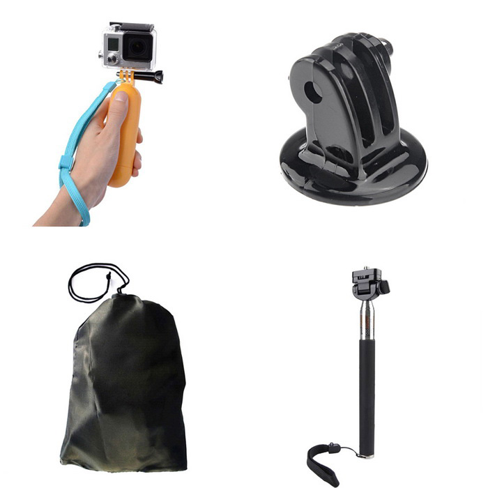 4-in-1 Camera Accessories Kit for GoPro, SJ4000, SJ5000, SJCam, Xiaoyi