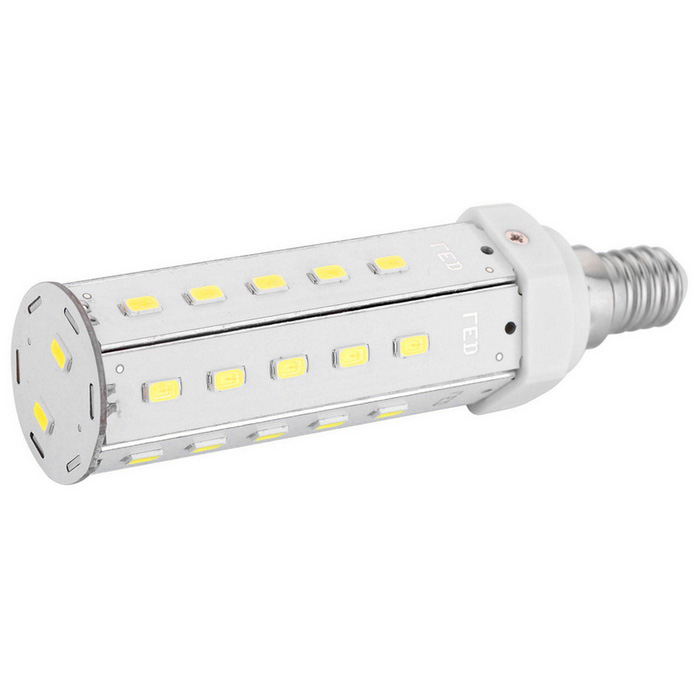 E14 12W LED Corn Bulb Lamp Cold White 1080lm 32-SMD 5630 (AC 100~240V)