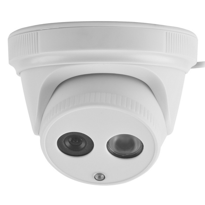 "1/4"" CMOS 1.0MP 1080TVL HD CCTV Camera w/ 1-IR LED - White"
